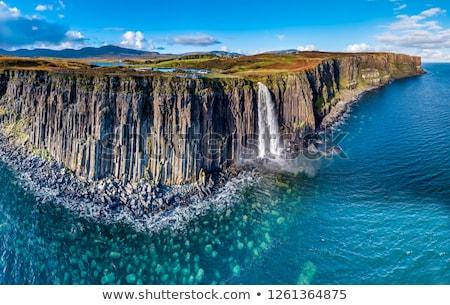 vízesés · Skócia · égbolt · víz · háttér · hegy - stock fotó © elxeneize