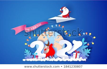 бумаги Дед Мороз снега жира Сток-фото © anacubo