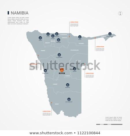 orange button with the image maps of namibia stock photo © mayboro