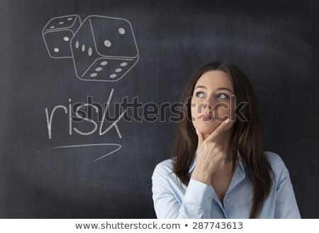 黒板 リスク 書かれた 質問 2 ストックフォト © mhristov
