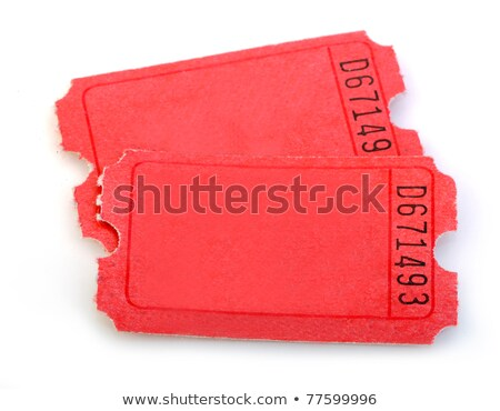 red raffle ticket admit one admission enter win stock photo © iqoncept