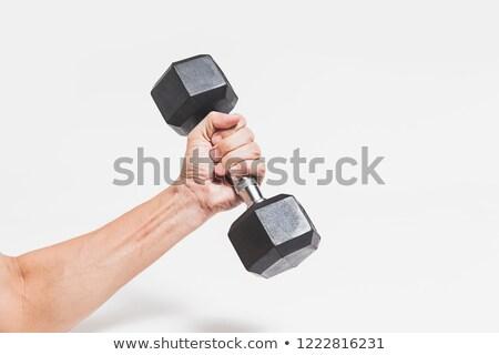 hand · fitness · man · kamer - stockfoto © gabor_galovtsik