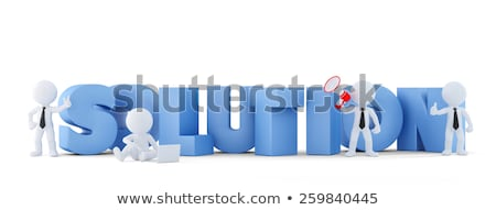 group of businesspeople with team sign business conceptisolated contains clipping path stock photo © kirill_m