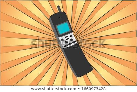 telecom communication yellow vector button icon design set stock photo © rizwanali3d