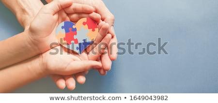 Autismo diagnóstico médico impresso vermelho pílulas Foto stock © tashatuvango