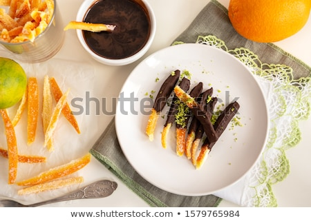 candied orange peel Stock photo © laciatek