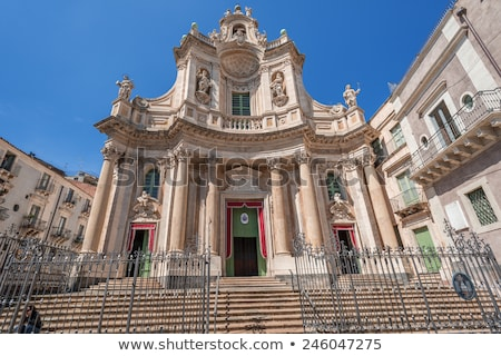 Bazylika sycylia Włochy miłości budynku drzwi Zdjęcia stock © ankarb