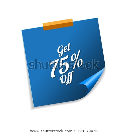 bonus · Blauw · sticky · notes · vector · icon · ontwerp - stockfoto © rizwanali3d