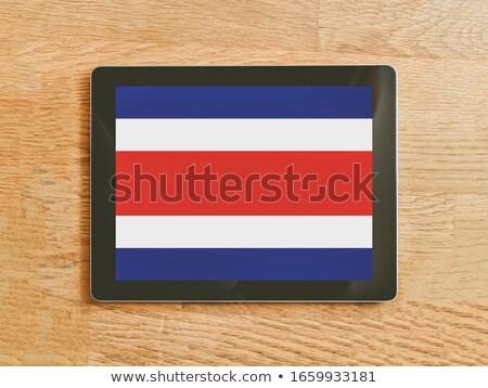 Tablet Costarica bandiera immagine reso Foto d'archivio © tang90246