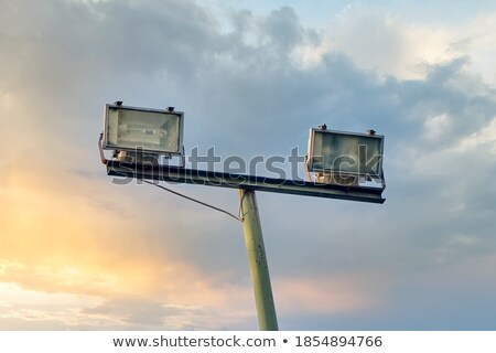 Industrial Floodlight on Post Stock photo © stevanovicigor