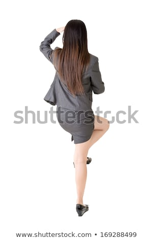 mulher · de · negócios · movimento · falante · móvel · corrida - foto stock © fuzzbones0
