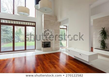 Camera ammobiliata giallo casa interni lusso Foto d'archivio © iriana88w