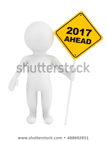 3d man with road sign concept Stock photo © nithin_abraham