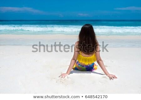 Girl on the beach at Similan Island, Thailand Stock photo © Yongkiet