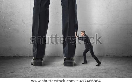 Сток-фото: ног · человека · мало · деловой · человек · изолированный · бизнеса