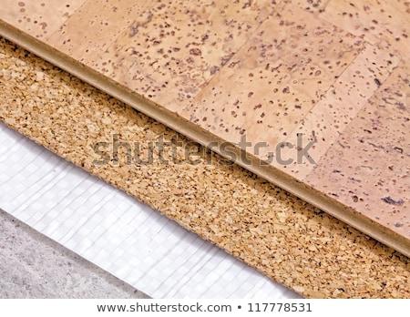 background cork  floor tile stock photo © flariv