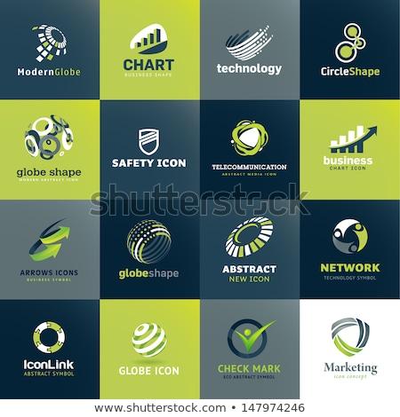 Secure Link Green Vector Icon Design Stock photo © rizwanali3d