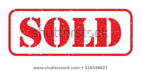 Vendido sello blanco papel mail comunicación Foto stock © fuzzbones0