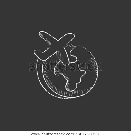 globális · kommunikáció · közlekedés · illusztráció · internet · földgömb · térkép - stock fotó © rastudio