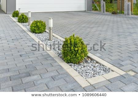 trottoir · stenen · textuur · weg · bouw · baksteen - stockfoto © nneirda