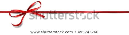 vector red ribbon with bow stock photo © dashadima
