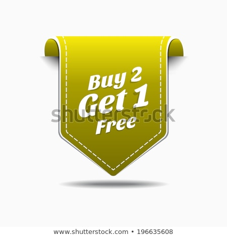 buy 2 get 1 free yellow vector icon button stock photo © rizwanali3d