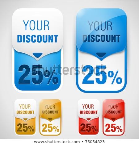 Sale Blue Vector Icon Design stock photo © rizwanali3d