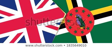 Verenigd Koninkrijk Dominica vlaggen puzzel geïsoleerd witte Stockfoto © Istanbul2009