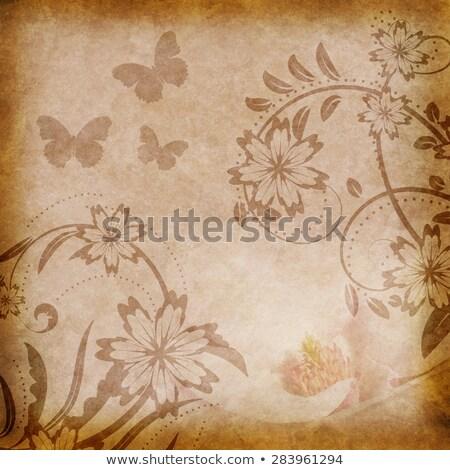 старые цветочный бумаги пространстве изображение текста Сток-фото © ezggystar