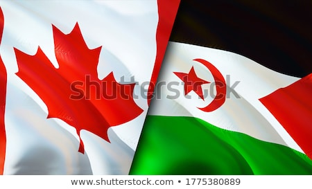 Canada and Western Sahara Flags Stock photo © Istanbul2009