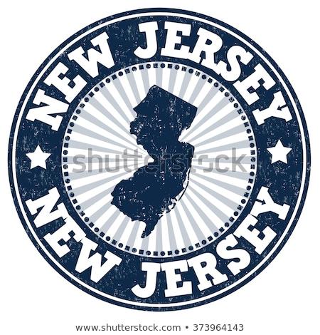Rubber inkt stempel New Jersey tekst Stockfoto © Bigalbaloo