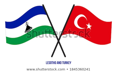 Stok fotoğraf: Türkiye · Lesoto · bayraklar · bilmece · yalıtılmış · beyaz