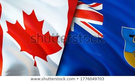 Kanada zászlók puzzle izolált fehér üzlet Stock fotó © Istanbul2009