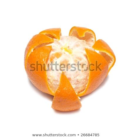Orange mandarin isolé blanche été peau Photo stock © vapi