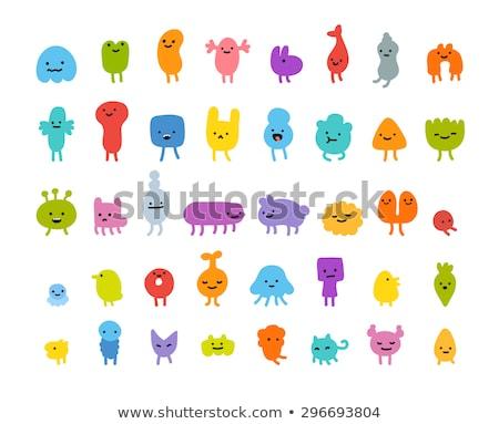 vector simple illustration of an alien stock photo © elisanth