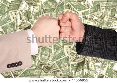 Photo stock: Deux · geste · dollar · collage · argent · Palm