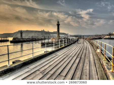 whitby pier stock photo © chris2766