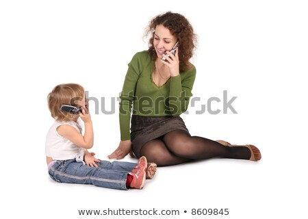 madre · hija · sesión · hablar · blanco - foto stock © Paha_L