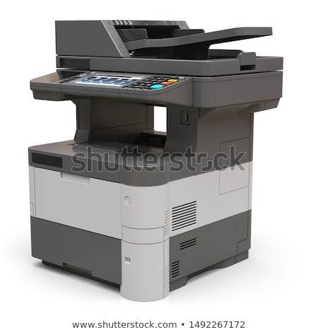 Nyomtató izolált fehér üzlet iroda szín Stock fotó © shutswis