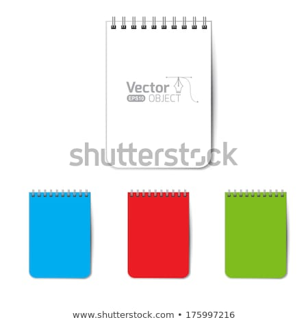 green leather case note book isolated on white background stock photo © shutswis