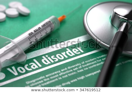 Vocal disorder. Medical Concept on Green Background. Stock photo © tashatuvango
