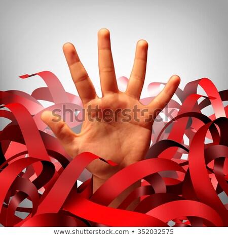 Stok fotoğraf: Bureaucratic Red Tape Problem