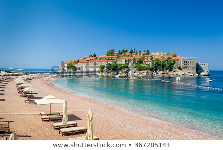 sveti stefan island in budva montenegro stock photo © vlad_star