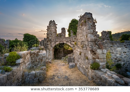 the ruins of old town bar montenegro stock photo © vlad_star