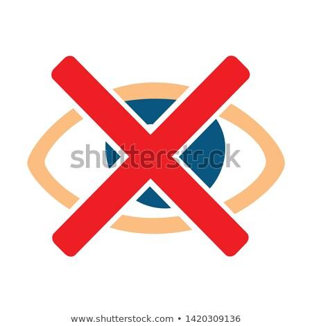 Foto stock: Não · veja · não · mostrar · e-mail · isolado