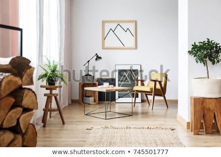 közelkép · üres · papír · irodaszerek · üzlet · technológia · fa · asztal - stock fotó © scornejor