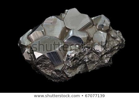 Złoty mineralny odizolowany biały tekstury Zdjęcia stock © jonnysek