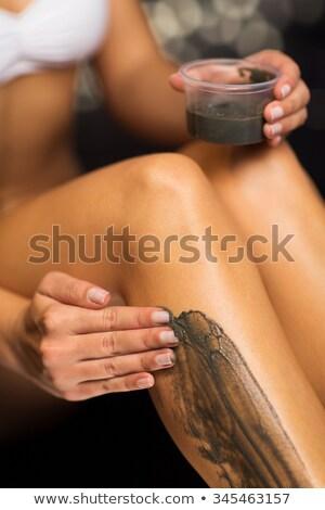 bela · mulher · lama · estância · termal · pessoas - foto stock © dolgachov