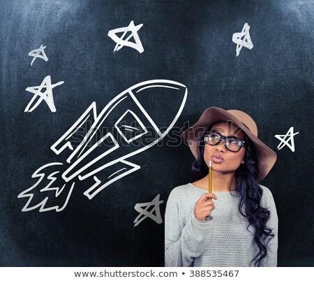 画像 アジア 女性 鉛筆 ストックフォト © wavebreak_media