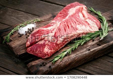 Impiccagione tenero appendiabiti bistecca carne sfondo Foto d'archivio © Klinker
